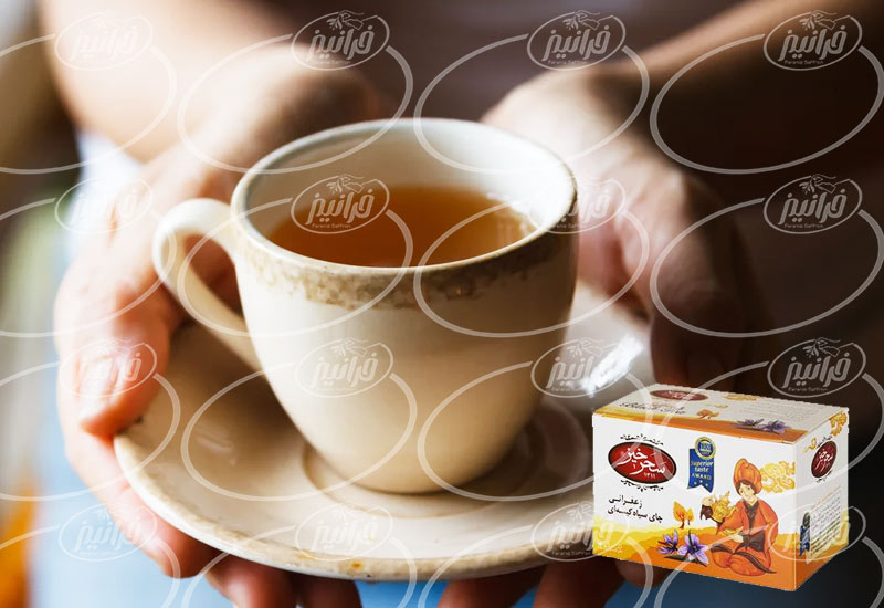 قیمت خرید چای سبز زعفرانی سحرخیز کیسه ای