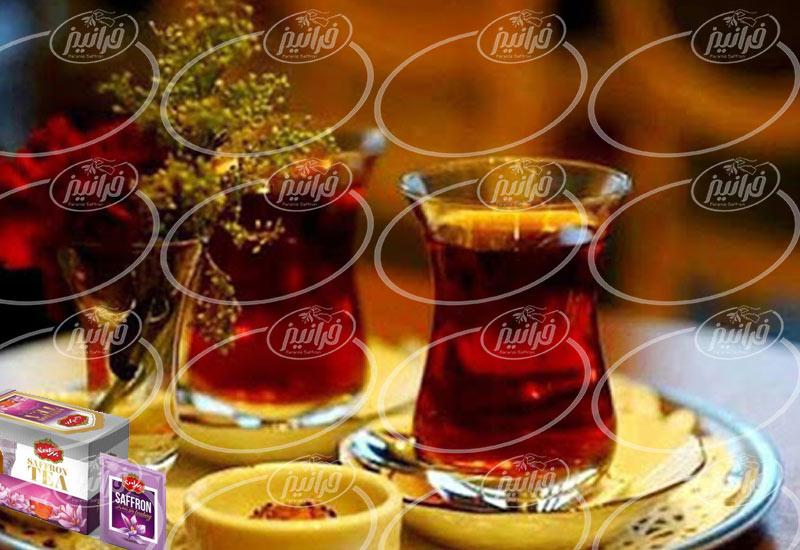 خریداری چای زعفرانی بهرامن با بهترین قیمت ایران